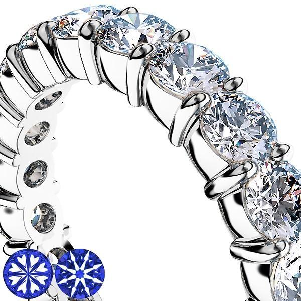 [e388-194]Pt900ダイヤモンド フルエタニティリング2.20Ct[直径3.0mm x 22Pc] 13〜16号 (HC 爪留めタイプ!婚約指輪・結婚指輪にも!