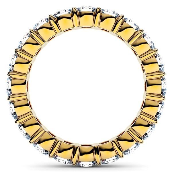 [e388-213]K18YGダイヤモンド フルエタニティリング2.00Ct[直径3.0mm x 20Pc] 7〜10号 (HC 爪留めタイプ!婚約指輪・結婚指輪にも!