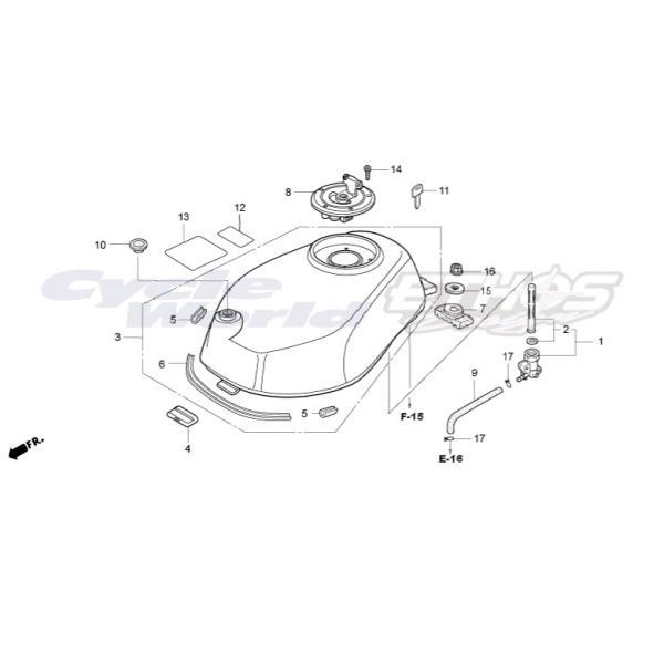 17614-KBA-900 クッション,フューエルタンク HRC ホンダレーシング|ethosdesign