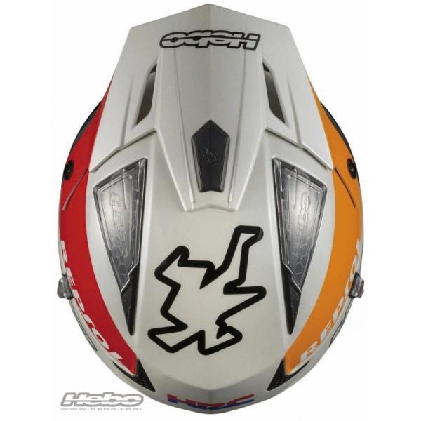 HC1050 ZONE4 MONTESAチーム HEBO エボ トライアルヘルメット MFJ公認|ethosdesign|02