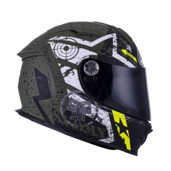 SSR0023 SUOMY SR-SPORT STARS スターズ ミリタリー ヘルメット SGマーク 公道走行OK|ethosdesign|03