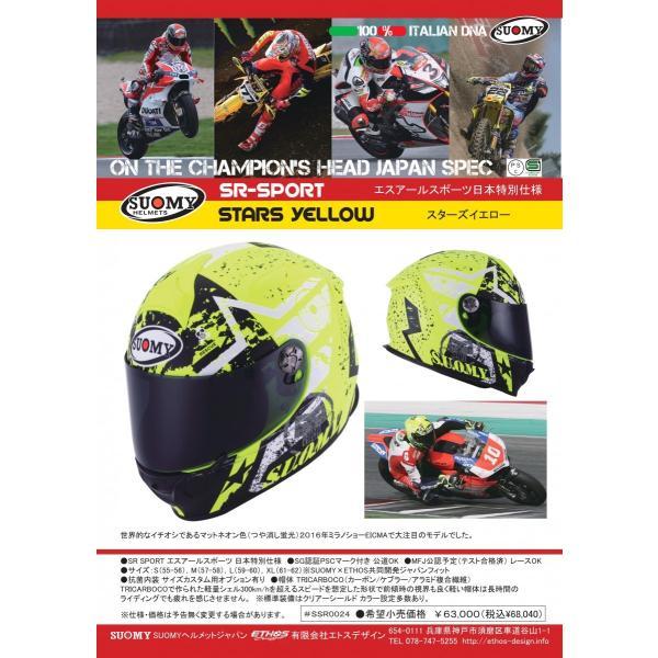 SSR0024 SUOMY SR-SPORT STARS スターズ イエロー ヘルメット SGマーク 公道走行OK ethosdesign 04