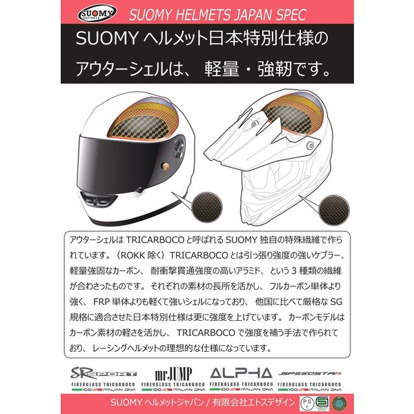 SSR0024 SUOMY SR-SPORT STARS スターズ イエロー ヘルメット SGマーク 公道走行OK ethosdesign 08