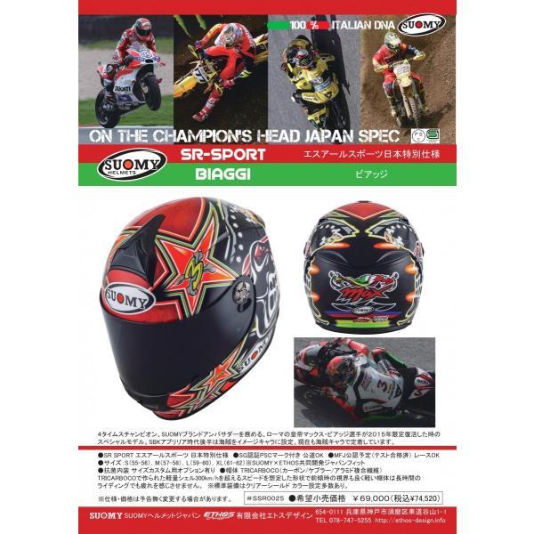 SSR0025 SUOMY SR-SPORT BIAGGI ビアッジ ヘルメット SGマーク 公道走行OK ethosdesign 04