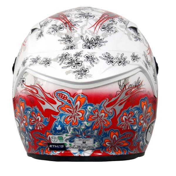 SSR00F3 SUOMY SR-SPORT FLOWER フラワー ホワイト/レッド ヘルメット SGマーク 公道走行OK 日本限定販売|ethosdesign|02