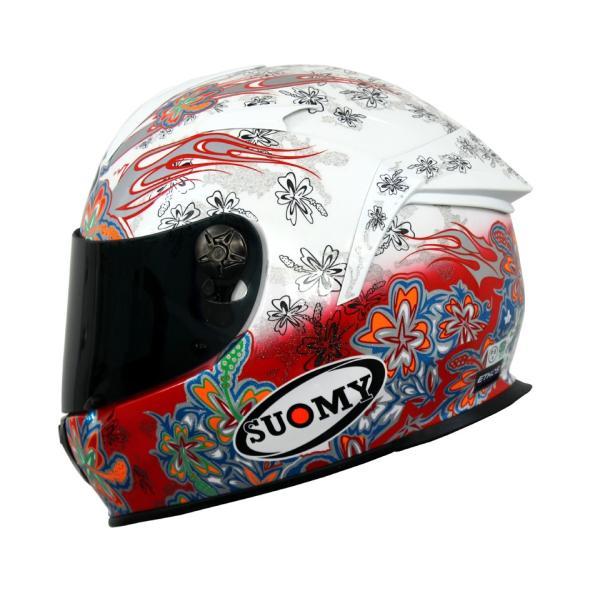 SSR00F3 SUOMY SR-SPORT FLOWER フラワー ホワイト/レッド ヘルメット SGマーク 公道走行OK 日本限定販売|ethosdesign|04