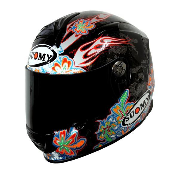 SSR00F6 SUOMY SR-SPORT FLOWER フラワー パールブラック ヘルメット SGマーク 公道走行OK 日本限定販売 ethosdesign