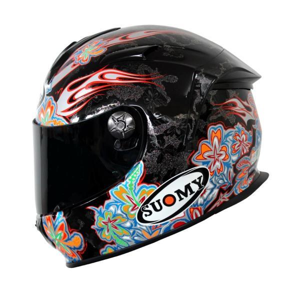 SSR00F6 SUOMY SR-SPORT FLOWER フラワー パールブラック ヘルメット SGマーク 公道走行OK 日本限定販売 ethosdesign 02