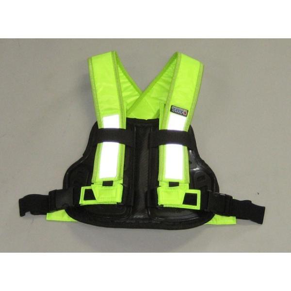 訳あり TRP001 TRY1 セイフティプロテクトVベスト 蛍光 チェストプロテクター 胸部パッド 装着簡単 バイク便、新聞配達、宅配業者様にもおすすめ|ethosdesign