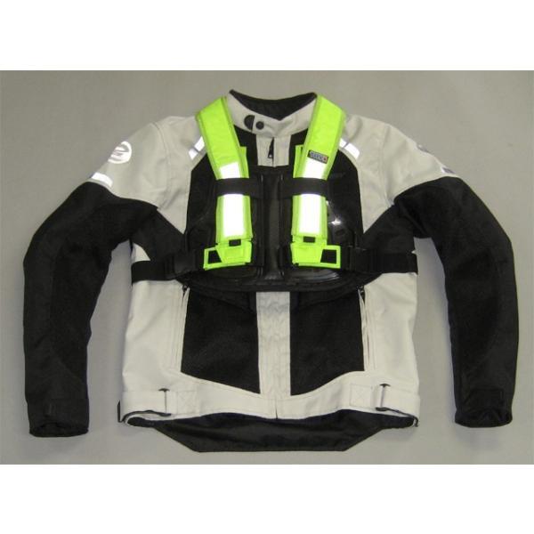 訳あり TRP001 TRY1 セイフティプロテクトVベスト 蛍光 チェストプロテクター 胸部パッド 装着簡単 バイク便、新聞配達、宅配業者様にもおすすめ|ethosdesign|03