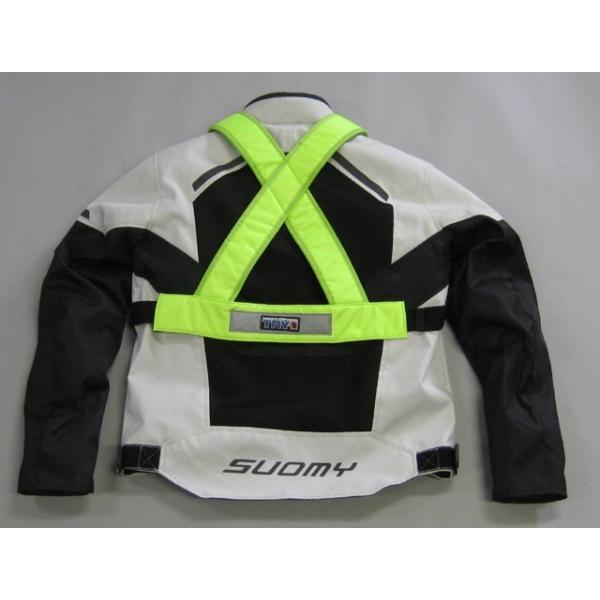 訳あり TRP001 TRY1 セイフティプロテクトVベスト 蛍光 チェストプロテクター 胸部パッド 装着簡単 バイク便、新聞配達、宅配業者様にもおすすめ|ethosdesign|04