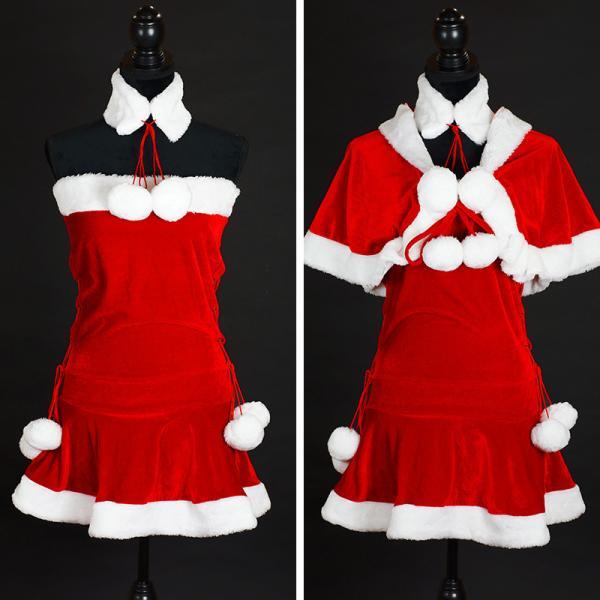 サンタ コスプレ レディース ケープ サンタクロース コスチューム クリスマス 衣装 大人用 ポンチョ|etoilekobe|10