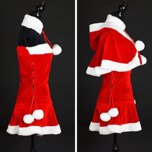 サンタ コスプレ レディース ケープ サンタクロース コスチューム クリスマス 衣装 大人用 ポンチョ|etoilekobe|11