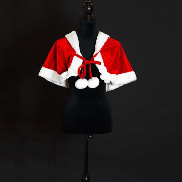 サンタ コスプレ レディース ケープ サンタクロース コスチューム クリスマス 衣装 大人用 ポンチョ|etoilekobe|13