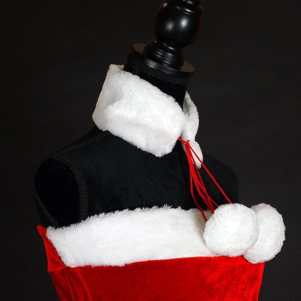 サンタ コスプレ レディース ケープ サンタクロース コスチューム クリスマス 衣装 大人用 ポンチョ|etoilekobe|14