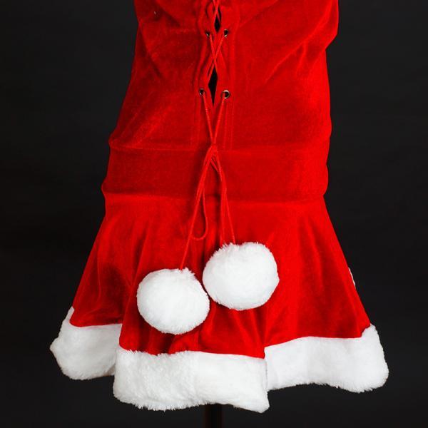 サンタ コスプレ レディース ケープ サンタクロース コスチューム クリスマス 衣装 大人用 ポンチョ|etoilekobe|15