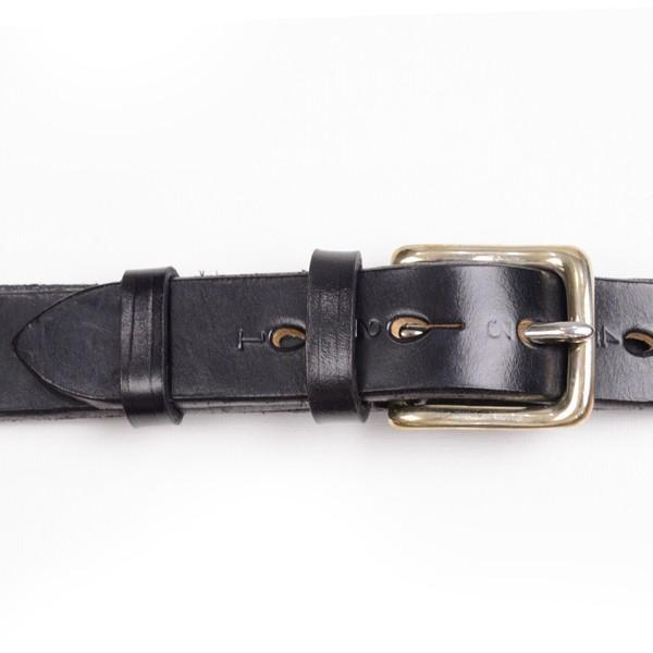 リアルハーネス スティラップレザー馬具革ベルト 28mm 英国製 ホールナンバー付 UKブライドルレザー 真鍮バックル ブラック eton 02