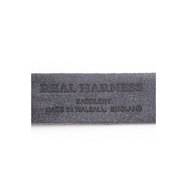リアルハーネス スティラップレザー馬具革ベルト 28mm 英国製 ホールナンバー付 UKブライドルレザー 真鍮バックル ブラック eton 06