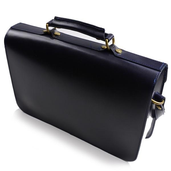 グレンロイヤル GLENROYAL サッチェルバッグ ニューブルー 02-6026 13インチサイズ(A4収納)手提げ&ショルダーバッグ ブライドルレザー|eton|02