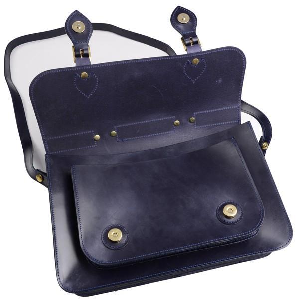 グレンロイヤル GLENROYAL サッチェルバッグ ニューブルー 02-6026 13インチサイズ(A4収納)手提げ&ショルダーバッグ ブライドルレザー|eton|06