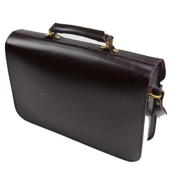 グレンロイヤル GLENROYAL サッチェルバッグ シガー 02-6026 13インチサイズ(A4収納)手提げ&ショルダーバッグ ブライドルレザー eton 02
