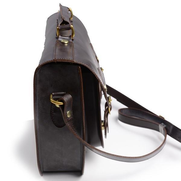 グレンロイヤル GLENROYAL サッチェルバッグ シガー 02-6026 13インチサイズ(A4収納)手提げ&ショルダーバッグ ブライドルレザー eton 03