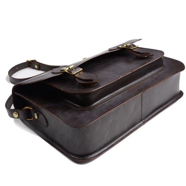 グレンロイヤル GLENROYAL サッチェルバッグ シガー 02-6026 13インチサイズ(A4収納)手提げ&ショルダーバッグ ブライドルレザー eton 04
