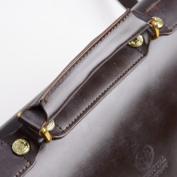 グレンロイヤル GLENROYAL サッチェルバッグ シガー 02-6026 13インチサイズ(A4収納)手提げ&ショルダーバッグ ブライドルレザー eton 08
