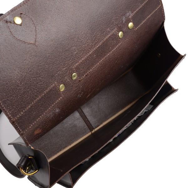 グレンロイヤル GLENROYAL サッチェルバッグ シガー 02-6026 13インチサイズ(A4収納)手提げ&ショルダーバッグ ブライドルレザー eton 09