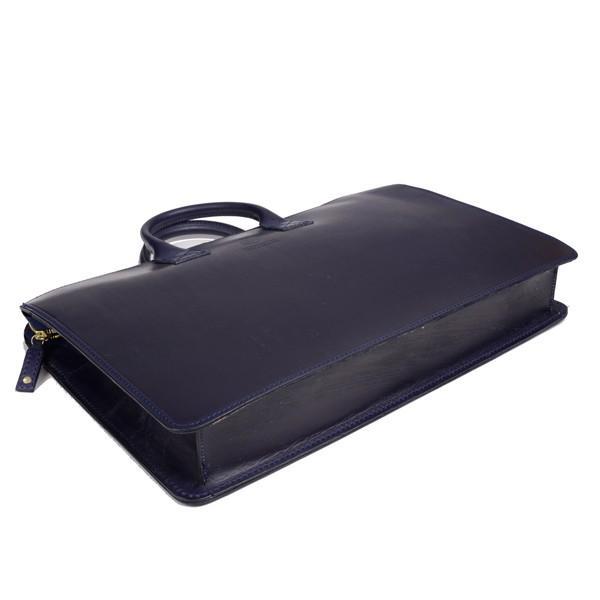 グレンロイヤル GLENROYAL ブリーフケース書類バッグ ダークブルー 02-5258  ライトウエイト ブライドルレザー eton 04