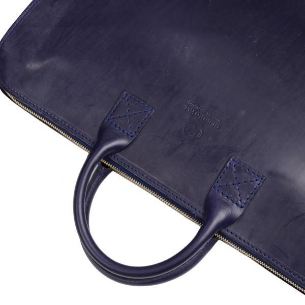 グレンロイヤル GLENROYAL ブリーフケース書類バッグ ダークブルー 02-5258  ライトウエイト ブライドルレザー eton 05