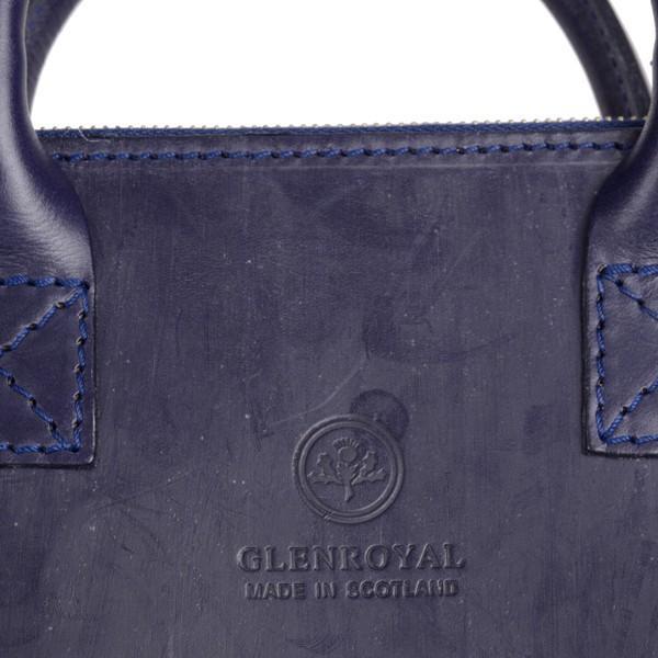 グレンロイヤル GLENROYAL ブリーフケース書類バッグ ダークブルー 02-5258  ライトウエイト ブライドルレザー eton 06