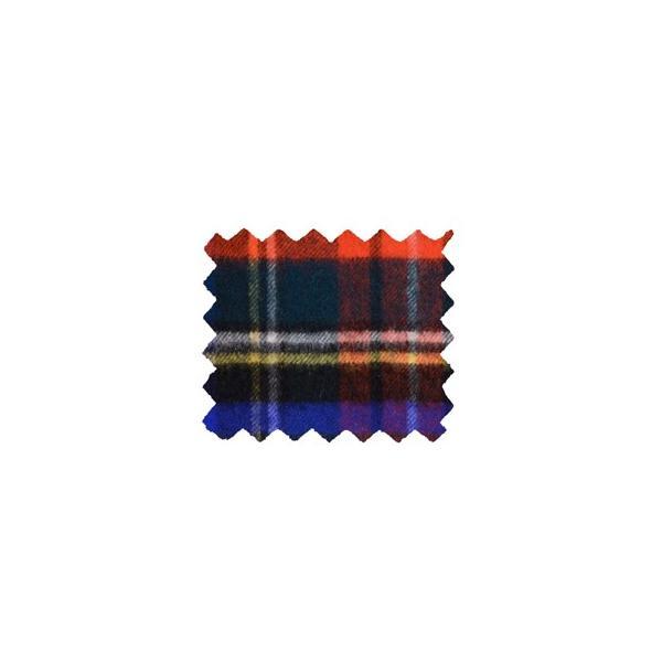 秋冬 ロイヤルワラント ジョンストンズ カシミア大判ストール  大柄タータンチェック チャコール スチュワート WA0056-VU9031 チャコール系