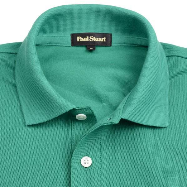 ポール・スチュアート メンズ Paul Stuart アイコニック半袖ポロシャツ ケリーグリーン 胸ワンポイント「マン・オン・ザ・フェンス」のカラー刺繍入り 綿100% eton 04