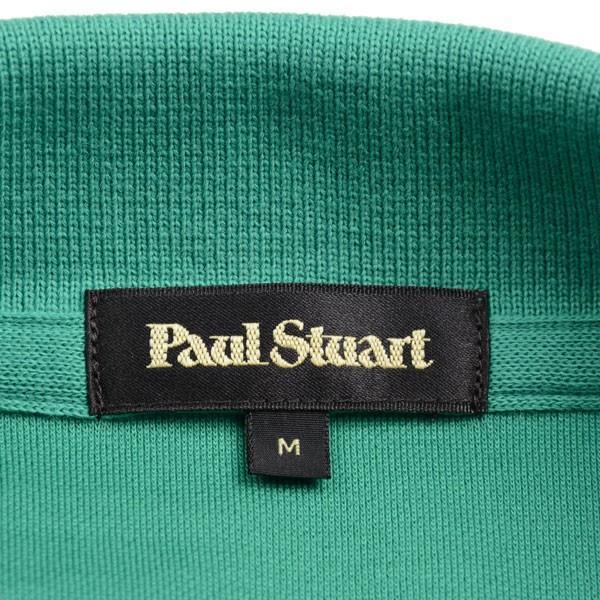 ポール・スチュアート メンズ Paul Stuart アイコニック半袖ポロシャツ ケリーグリーン 胸ワンポイント「マン・オン・ザ・フェンス」のカラー刺繍入り 綿100% eton 07