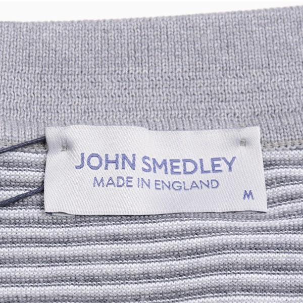 春夏 ジョンスメドレー メンズ JOHN SMEDLEY 半袖ポロニットシャツ「イートン」ボーダークレリックポロ シーアイランドコットン 英国王室御用達 シルバー|eton|07