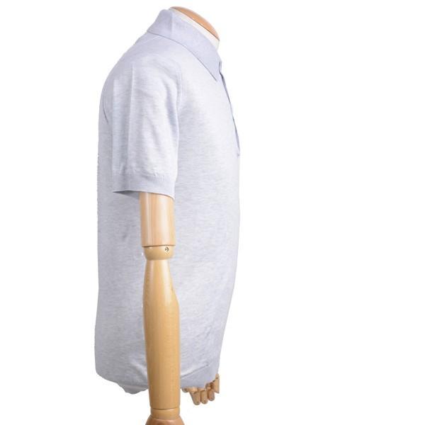 春夏 ジョンスメドレー メンズJOHN SMEDLEY 半袖ポロニットシャツ S3798 フェザー グレイ シーアイランドコットンニット無地 英国王室御用達 日本別注モデル|eton|02