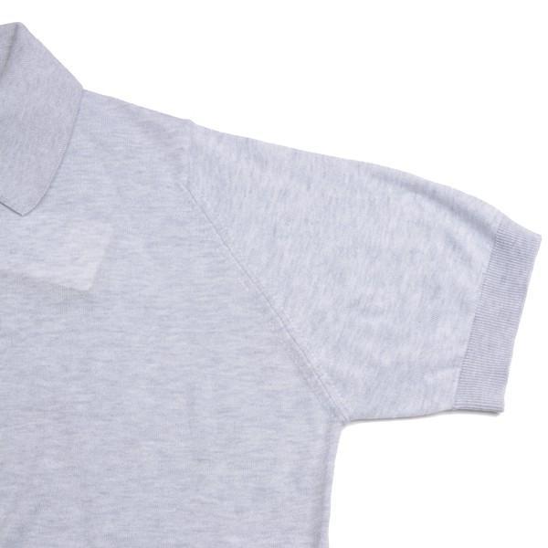 春夏 ジョンスメドレー メンズJOHN SMEDLEY 半袖ポロニットシャツ S3798 フェザー グレイ シーアイランドコットンニット無地 英国王室御用達 日本別注モデル|eton|05