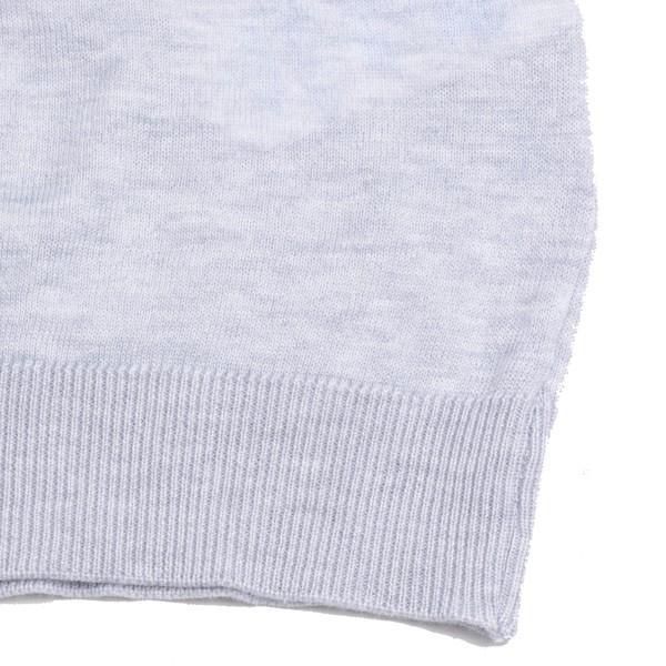 春夏 ジョンスメドレー メンズJOHN SMEDLEY 半袖ポロニットシャツ S3798 フェザー グレイ シーアイランドコットンニット無地 英国王室御用達 日本別注モデル|eton|06