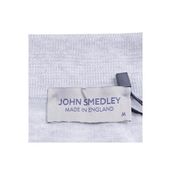 春夏 ジョンスメドレー メンズJOHN SMEDLEY 半袖ポロニットシャツ S3798 フェザー グレイ シーアイランドコットンニット無地 英国王室御用達 日本別注モデル|eton|07