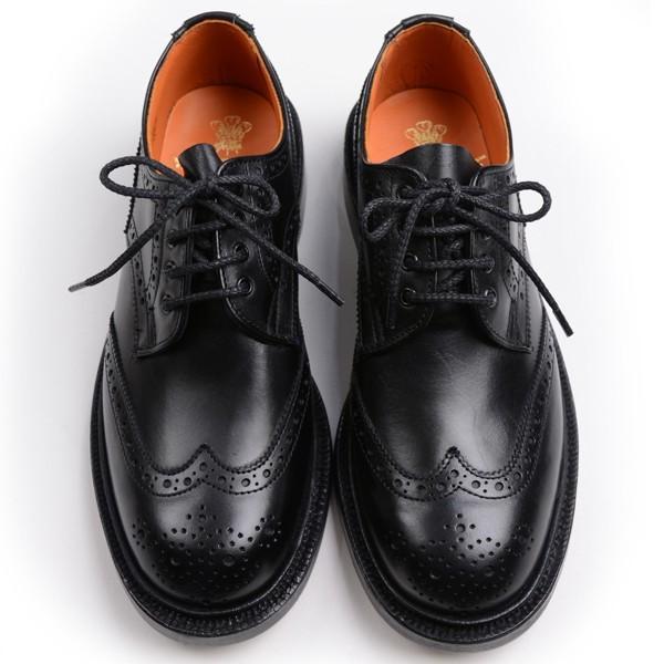 トリッカーズ レディースTRICKER'S LADIES ウィングチップ(短靴)カントリーシューズ アン L5679 ブラックカーフ レザーソール|eton
