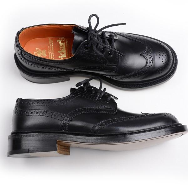 トリッカーズ レディースTRICKER'S LADIES ウィングチップ(短靴)カントリーシューズ アン L5679 ブラックカーフ レザーソール|eton|03