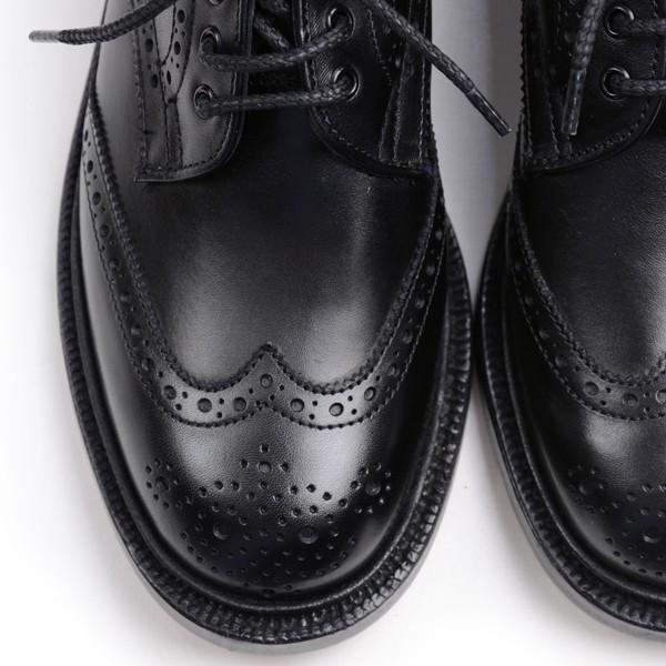 トリッカーズ レディースTRICKER'S LADIES ウィングチップ(短靴)カントリーシューズ アン L5679 ブラックカーフ レザーソール|eton|04