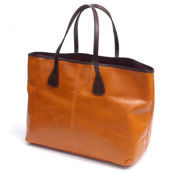 タスティング「バイソン トートバッグ」シューレザー(バッファロー/仔水牛革)超軽量革製トートバッグ(オレンジ)|eton|02
