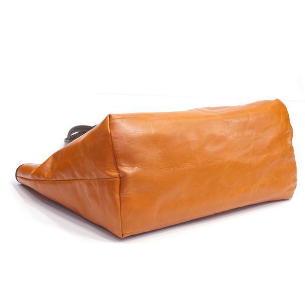 タスティング「バイソン トートバッグ」シューレザー(バッファロー/仔水牛革)超軽量革製トートバッグ(オレンジ)|eton|04