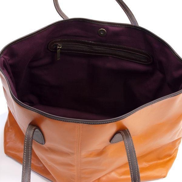 タスティング「バイソン トートバッグ」シューレザー(バッファロー/仔水牛革)超軽量革製トートバッグ(オレンジ)|eton|06