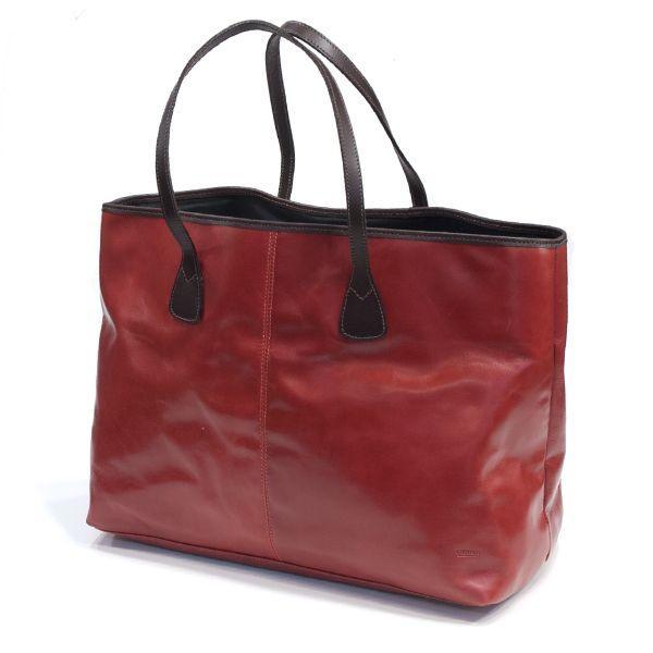 タスティング「バイソン トートバッグ」シューレザー(バッファロー/仔水牛革)超軽量革製トートバッグ(レッド)|eton|02