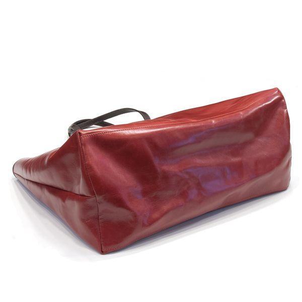 タスティング「バイソン トートバッグ」シューレザー(バッファロー/仔水牛革)超軽量革製トートバッグ(レッド)|eton|04