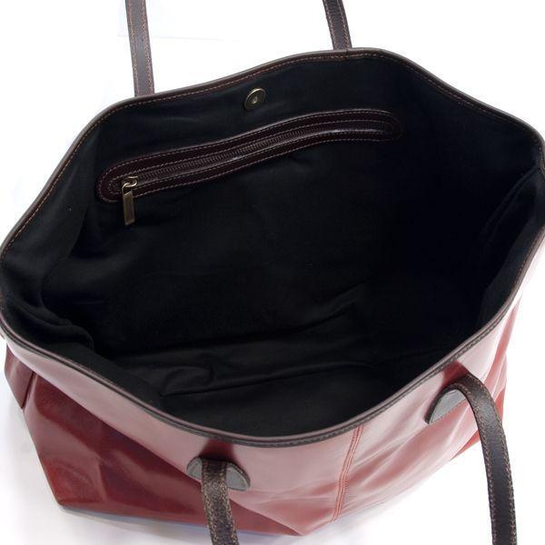 タスティング「バイソン トートバッグ」シューレザー(バッファロー/仔水牛革)超軽量革製トートバッグ(レッド)|eton|06