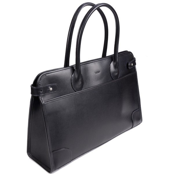 タスティング 「ジェームス」ブリーフケース サドルレザー(スペイン ミレ社製)英国製高級ビジネス書類バッグ 丸手ハンドル ブラック|eton